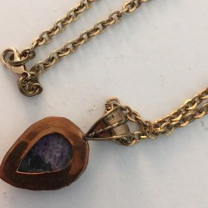 Vintage Jewelry - Sterling Silver Vintage Stone Necklace